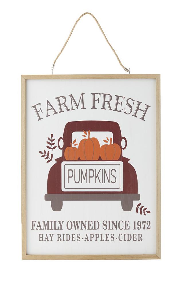 Fall Reversible Wall Sign farms fresh pumpkins hayrides