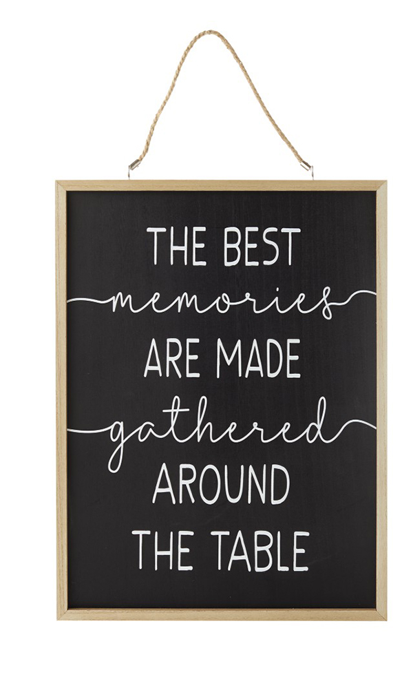 Fall Reversible Wall Sign memories are made around the table