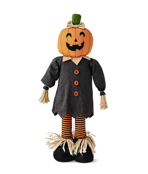 Tabletop Scarecrow Pumpkin Girl
