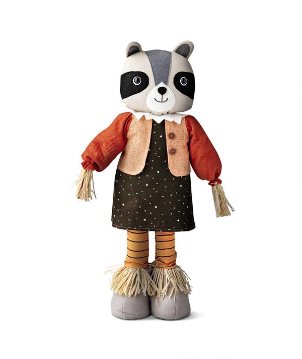 Tabletop Scarecrow Raccoon