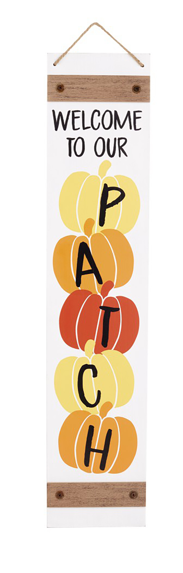 Fall Reversible Porch Sign welcome to our patch