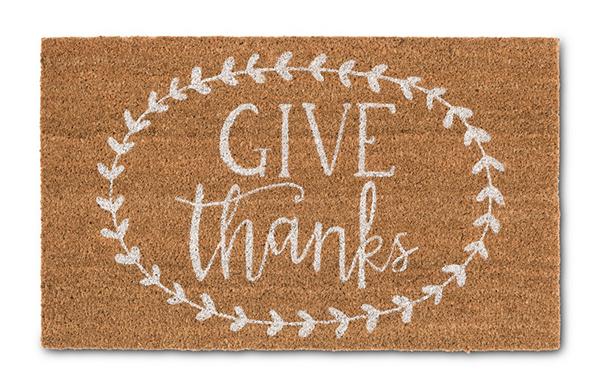 aldi give thanks front door mat