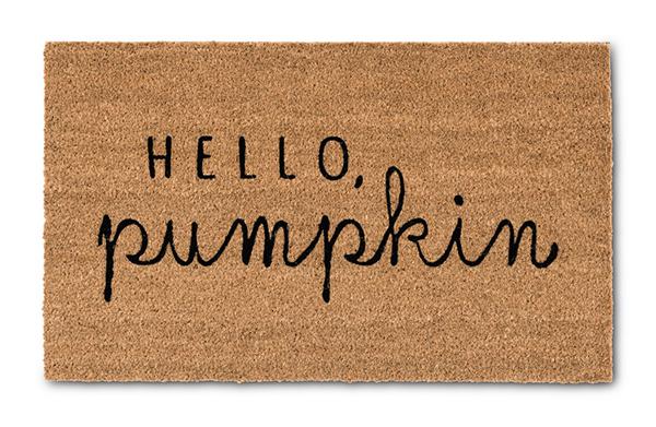 aldi hello pumpkin mat