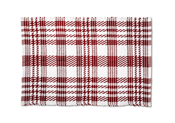 Handwoven Layering Rug from aldi red