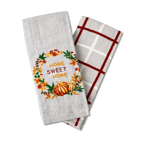 aldi 2 Pack Towel Set home sweet home