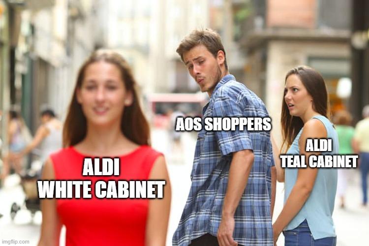 aldi white cabinet