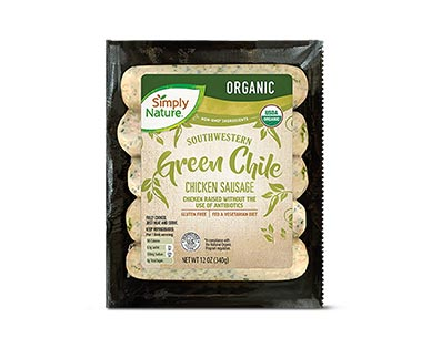 Simply Nature Organic Green Chile Chicken Sausage