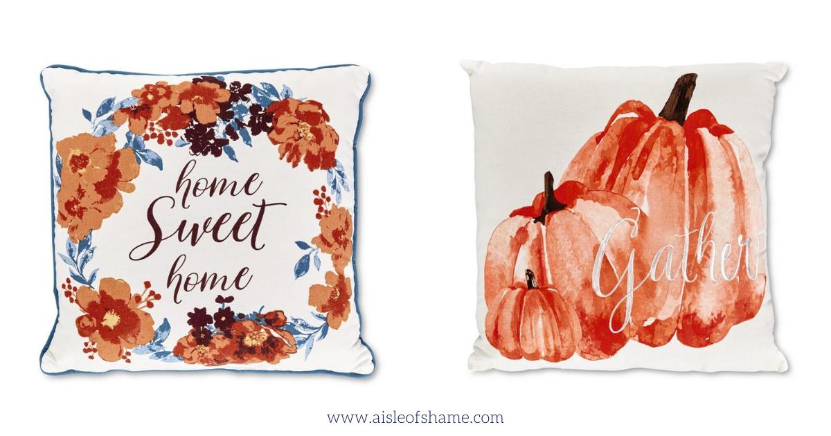 Aldi Fall throw pillows