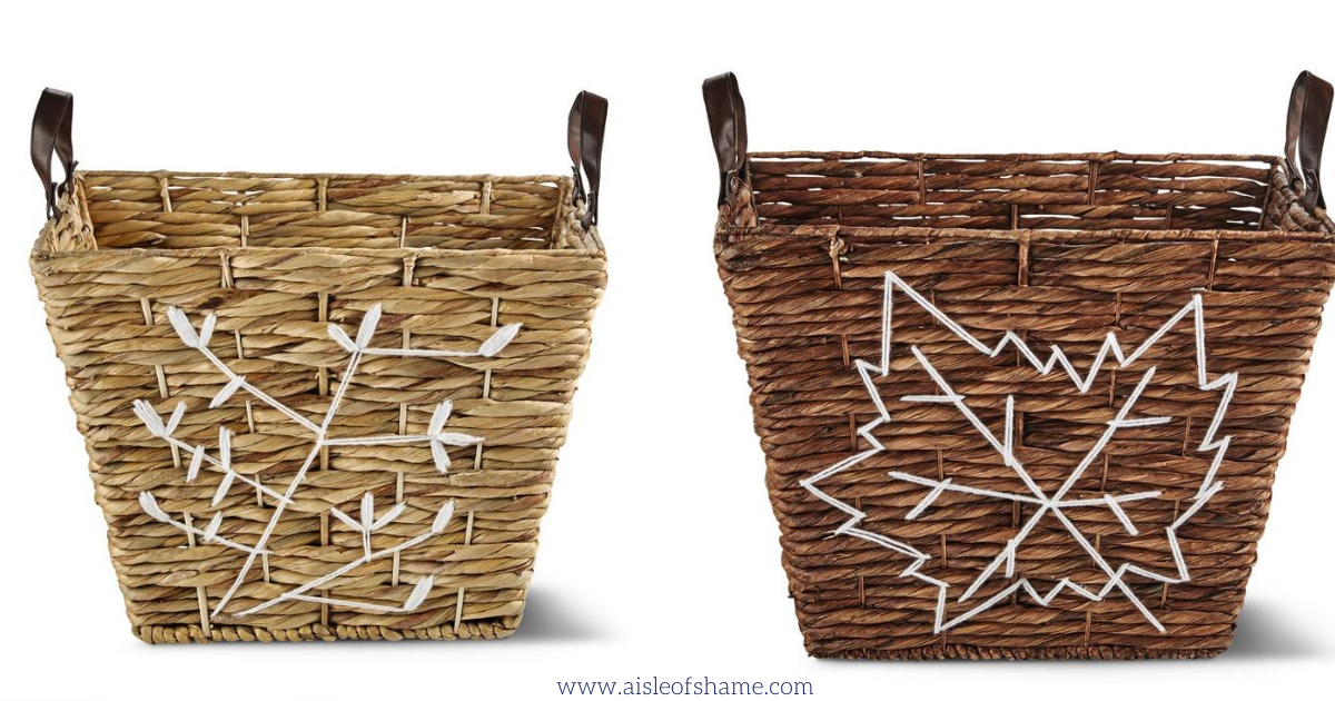 Fall embroidered baskets