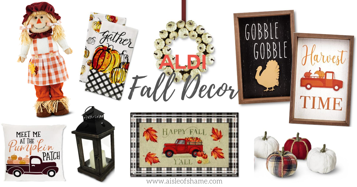 Aldi fall decor