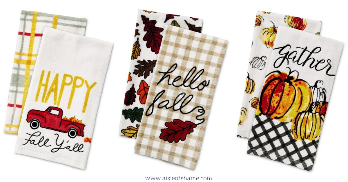 Aldi fall kitchen towels