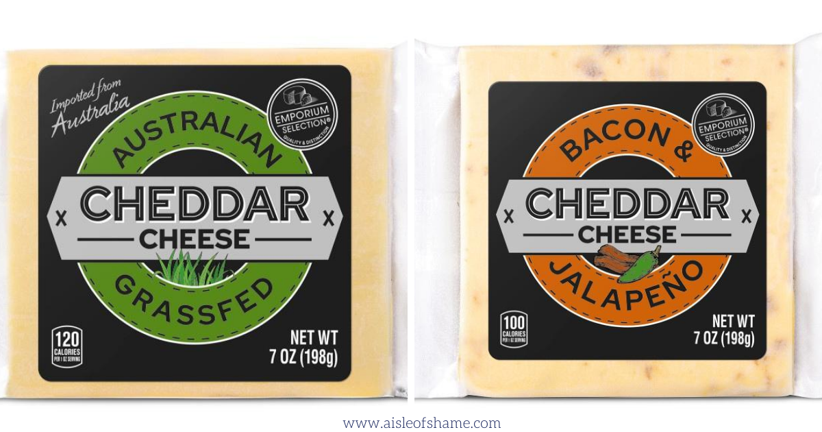 Emporium Selection cheddar cheese at Aldi