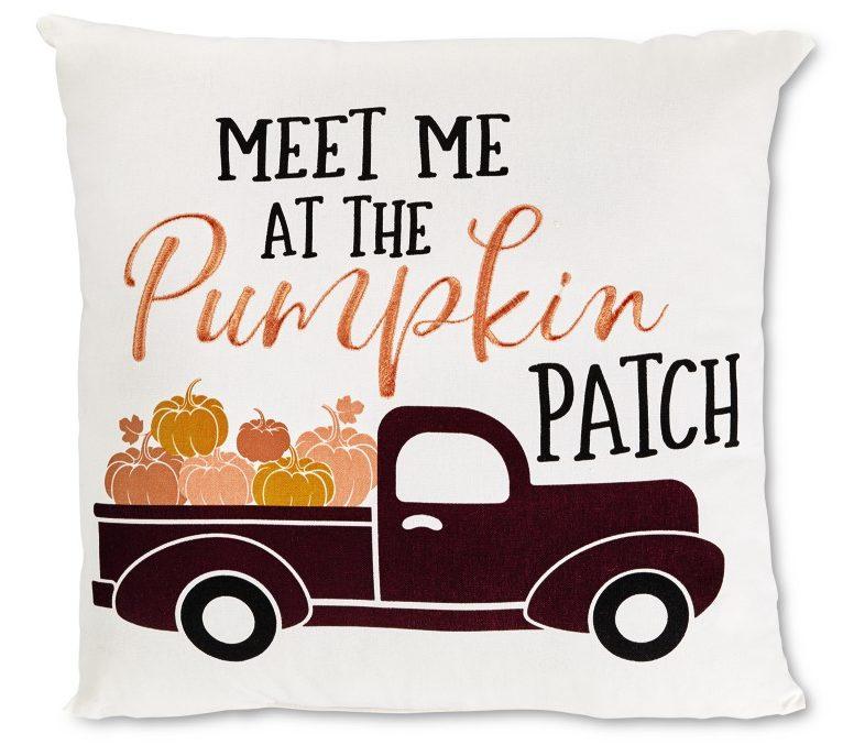Fall pumpkin patch pillow