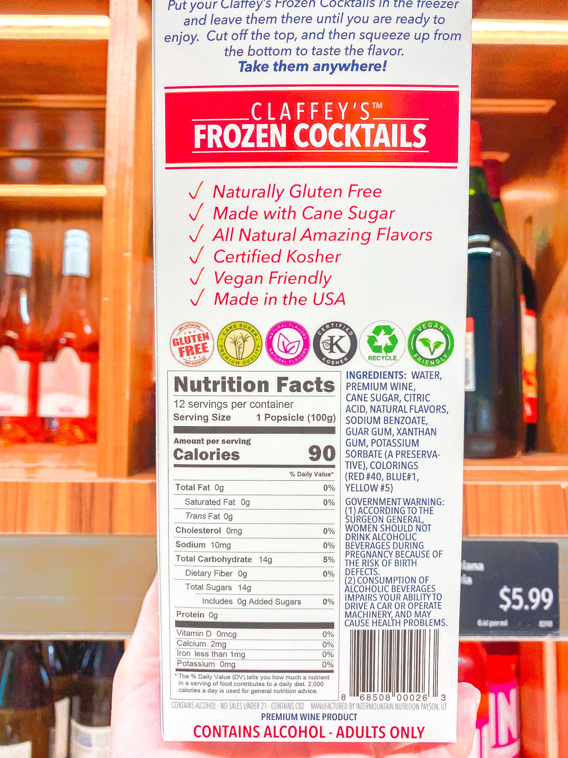 claffey's frozen cocktails aldi