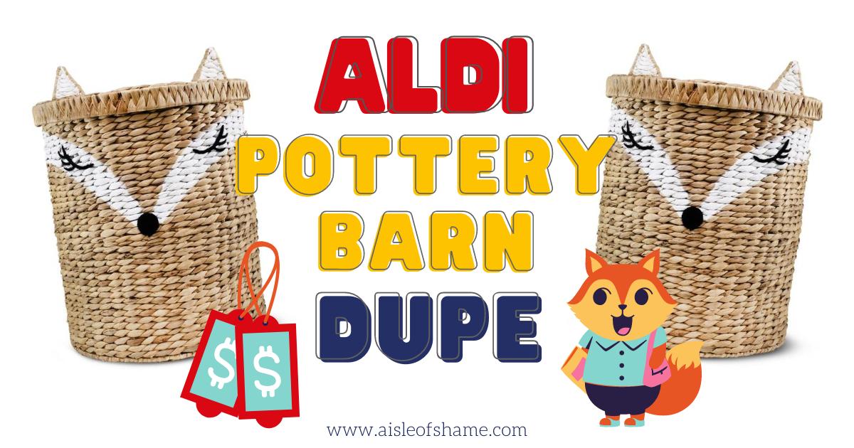 Aldi Pottery Barn Dupe