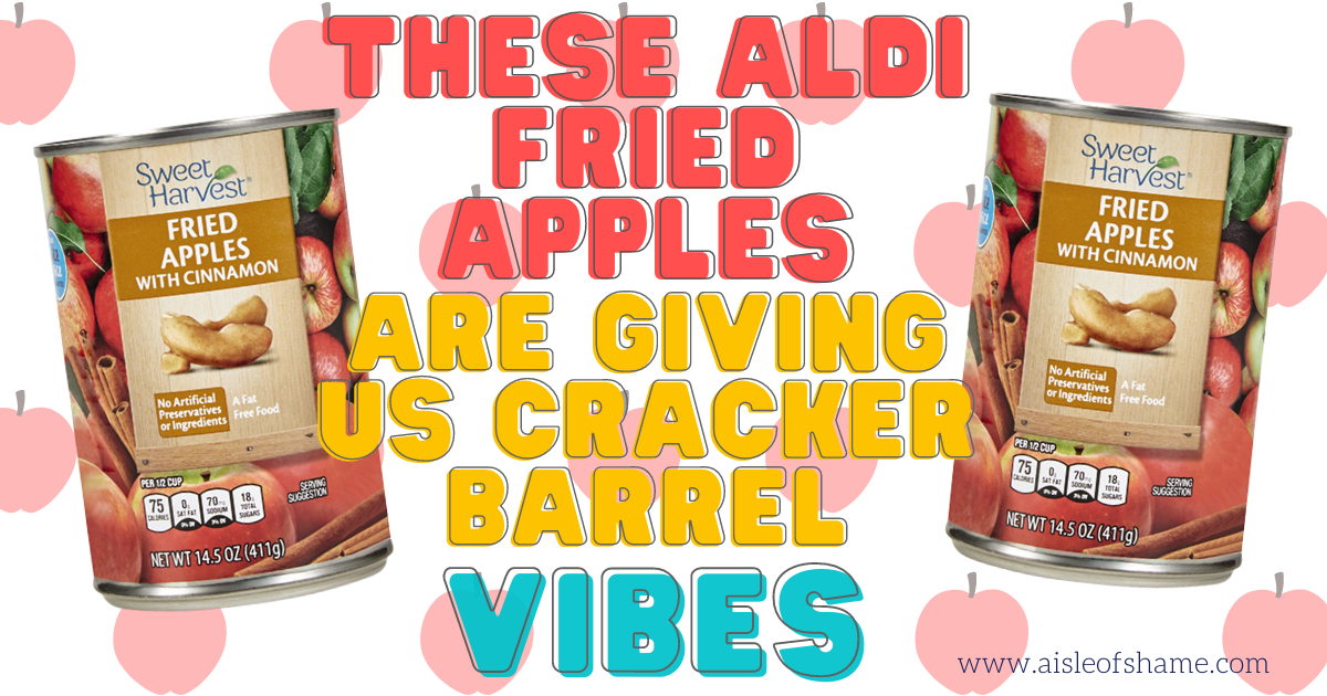 aldi fried apples with cinnamon in a can