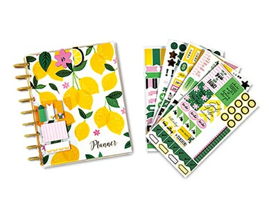 Pembrook Planner Kit from Aldi with lemons