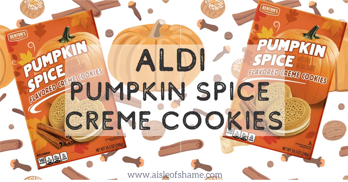 aldi pumpkinspice creme cookies