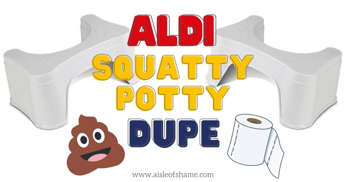 aldi squatting stool squatty potty dupe