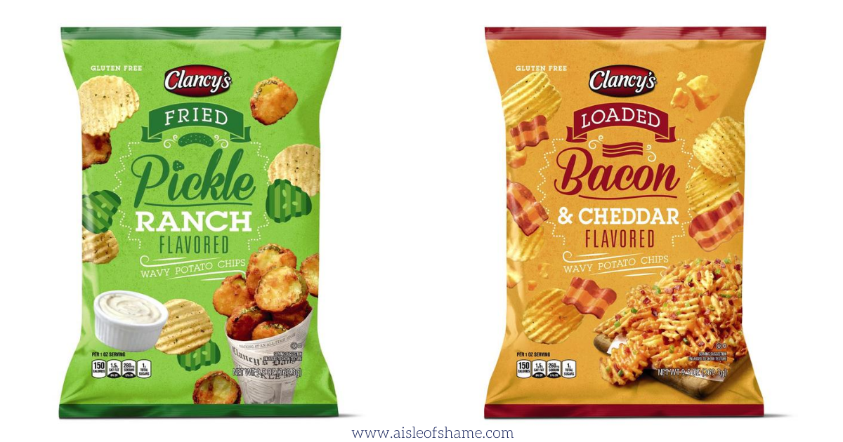 clancy's loaded bacon cheddar chips