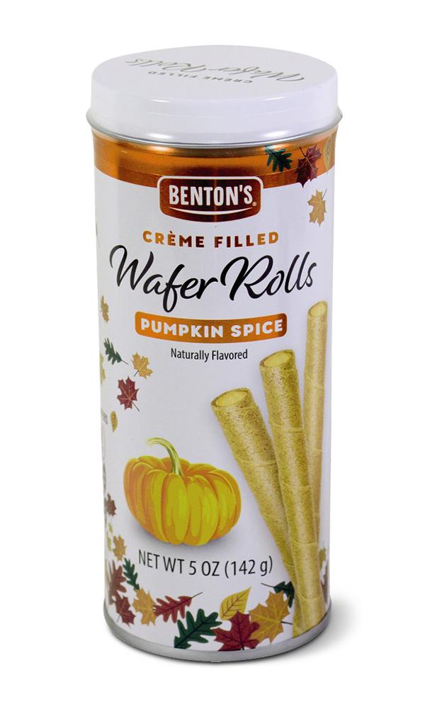 Benton's Creme Pumpkin Spice Wafer Rolls