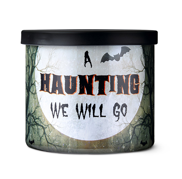 aldi a haunting we will go halloween candle