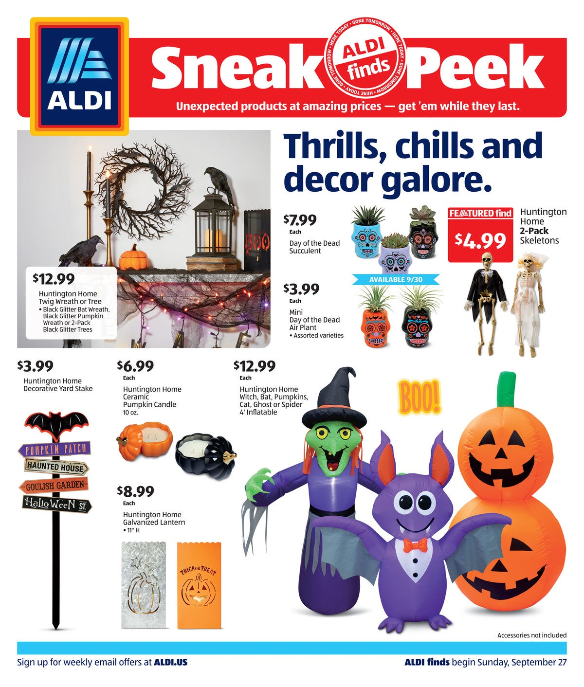 Aldi ad preview for September 30 2020 Halloween