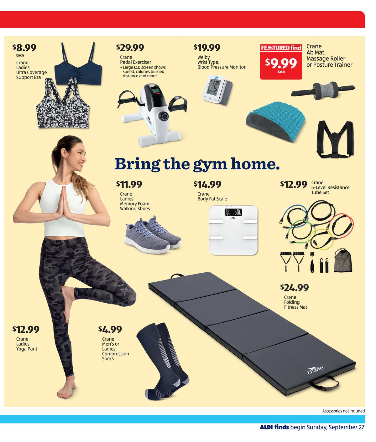 Aldi ad preview for September 30 2020 workout gear