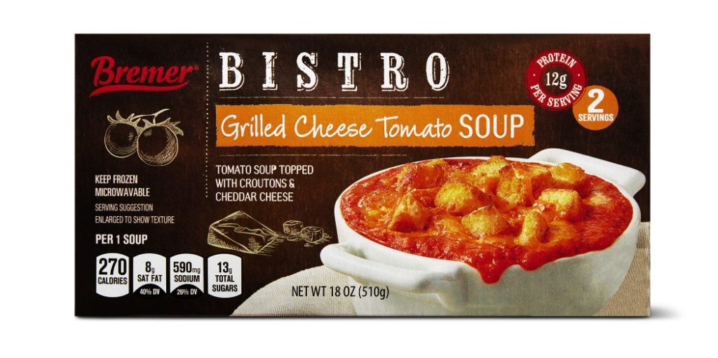 Bremer Bistro Soup Grilled Cheese Tomato