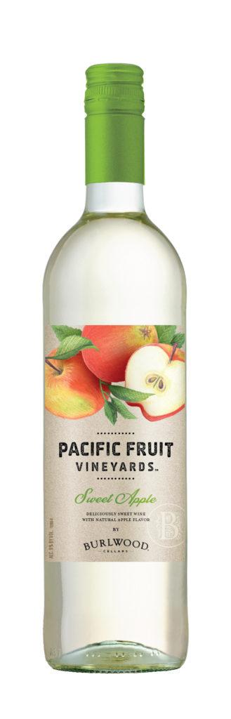 bottle of aldi sweet apple wine