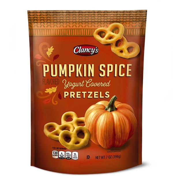 Clancy's Pumpkin Spice Flavored Pretzels