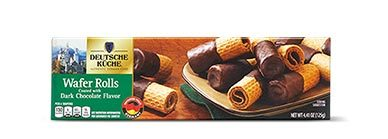 german week dark chocolate wafer rolls