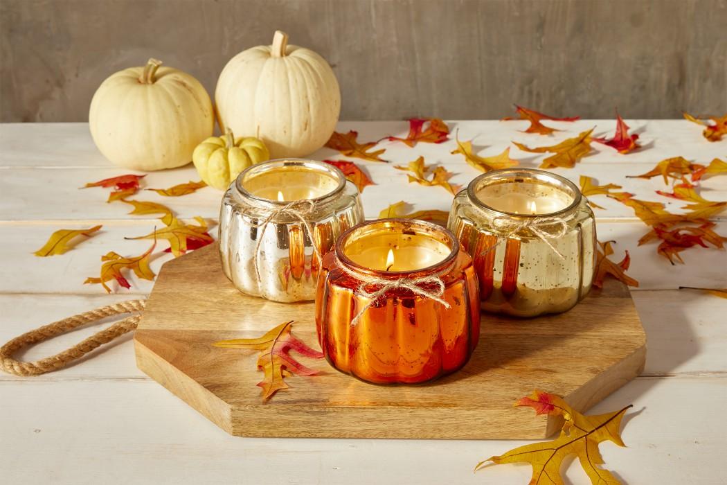 aldi mercury glass pumpkin candles