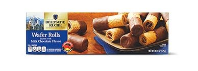german week milk chocolate wafer rolls