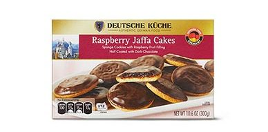 rapsberry jaffa cakes for german week at aldi