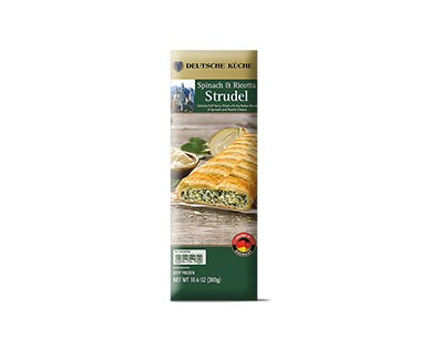 german week spinach ricotta strudel