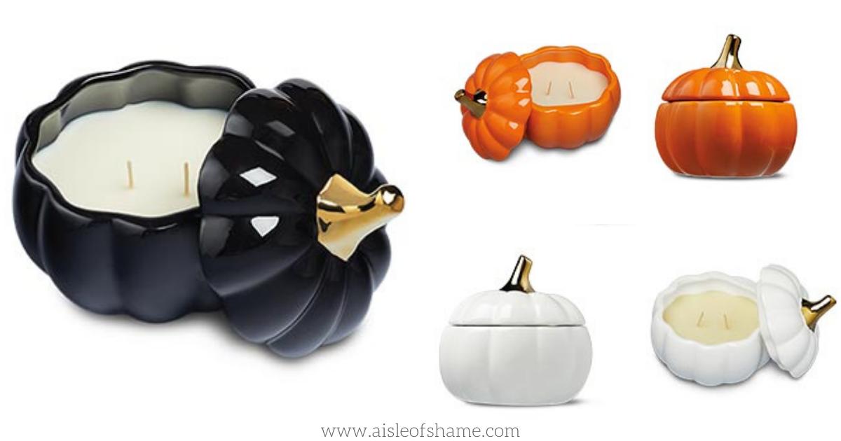 ceramic pumpkin candles