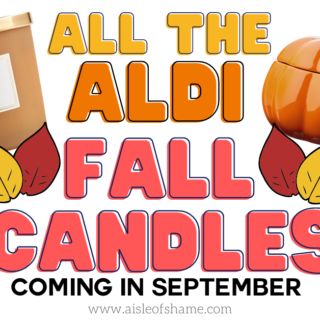 all the fall candles coming to Aldi in September