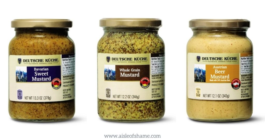 3 flavors of Aldi German mustard