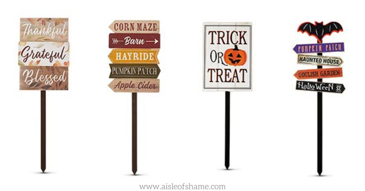 aldi halloween yard stakes