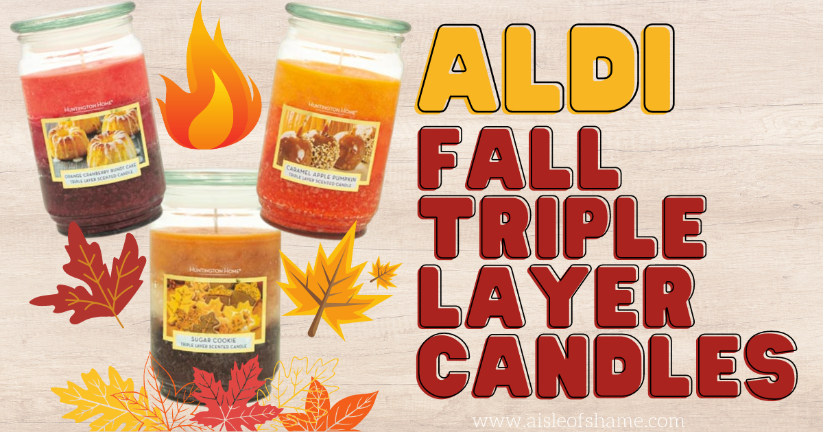 aldi fall scented triple layer candles