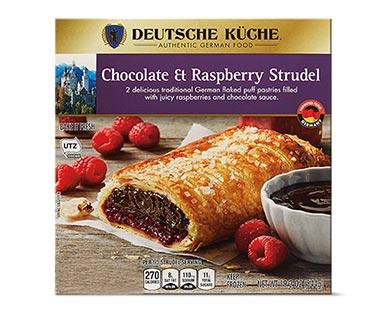 aldi german week chocolate raspberry strudel