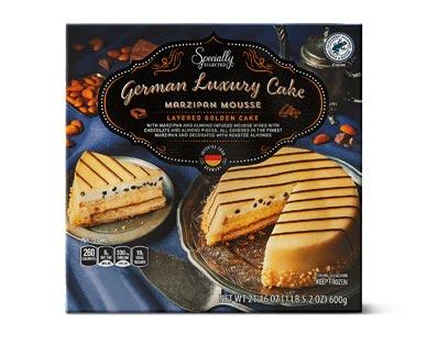 german marzipan mousse cake
