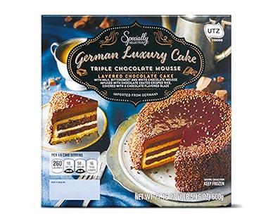 triple chocolate mousse cake at aldi