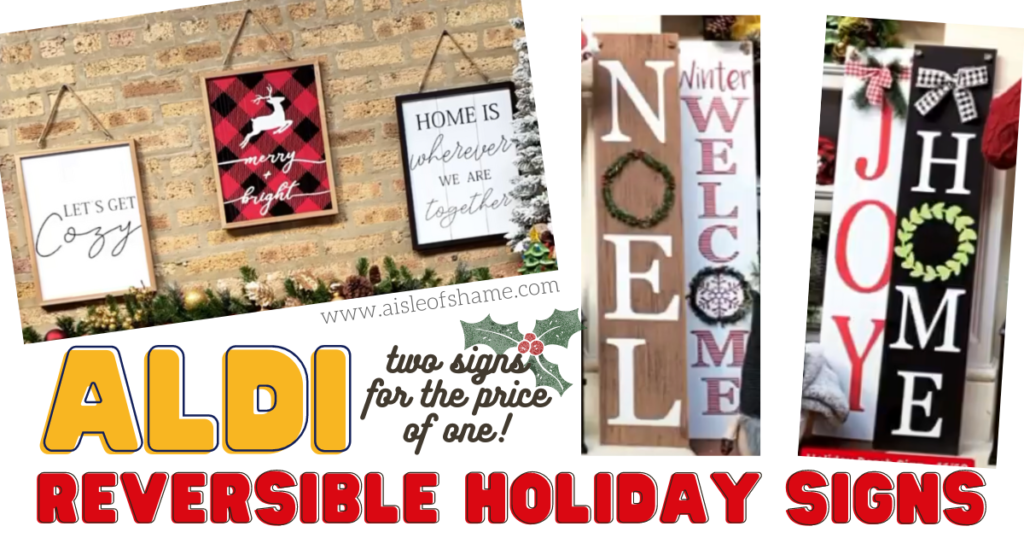 Aldi Reversible Holiday Signs