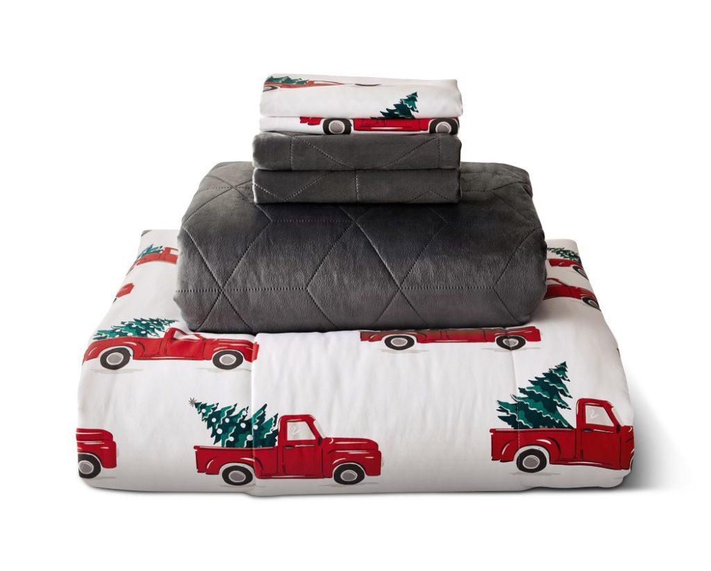 aldi red truck bedding