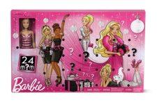 mattel barbie or little people advent calendar at aldi