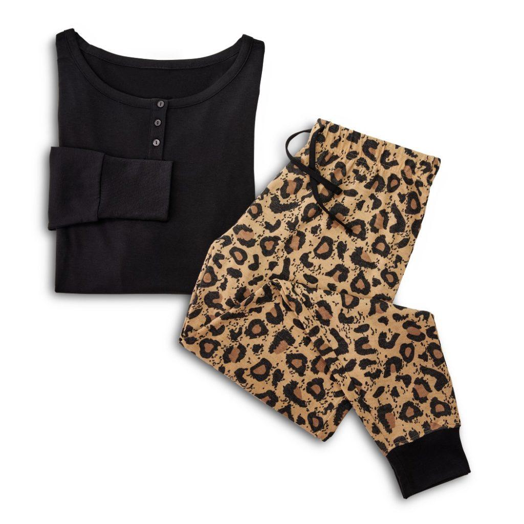 aldi cheetah print pajamas