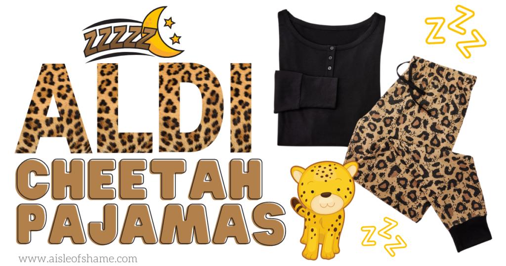 aldi cheetah pjs