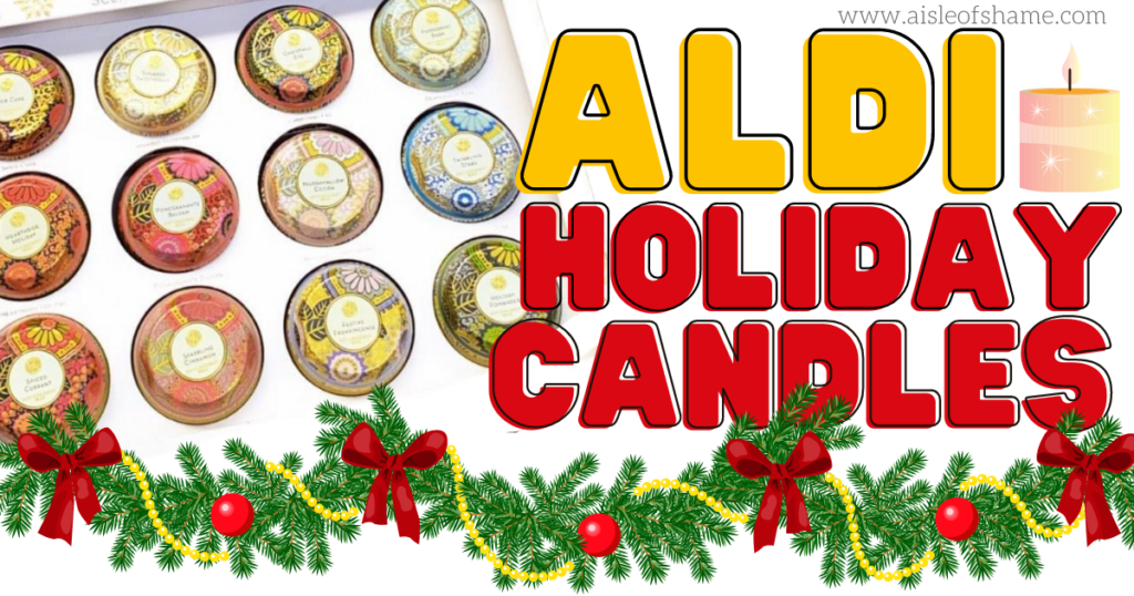 aldi holiday candles